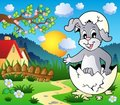 Easter bunny theme image 3 Royalty Free Stock Photography