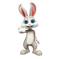 Easter bunny with visiting card happy Stock Photos