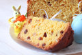 Easter cake pastry with raisins and candied fruit Stock Photo