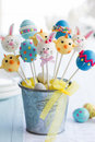 Easter cake pops for an party Royalty Free Stock Photo