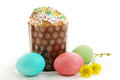 Easter cakes eggs festive still life Royalty Free Stock Photos