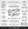Easter calligraphy set (vector) Royalty Free Stock Photos