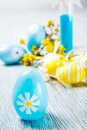 Easter candle egg decoration background Royalty Free Stock Images