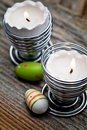 Easter candles Royalty Free Stock Image