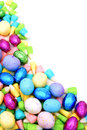 Easter candy border Royalty Free Stock Image
