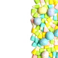 Easter candy border over white a background Royalty Free Stock Images