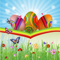 Easter card with Royalty Free Stock Image
