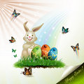 Easter card with bunny Royalty Free Stock Photography