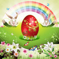 Easter card with bunny Stock Image