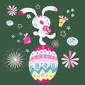 Easter card with bunny Stock Images