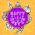 Easter card concept bright vector background for holiday spring design Royalty Free Stock Photography