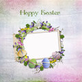 Easter card for congratulations with frame Royalty Free Stock Photos