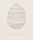 Easter card with doodle egg Royalty Free Stock Image