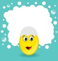 Easter card with egg character Royalty Free Stock Image