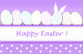 Easter card with eggs in dots Stock Photos