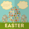 Easter card with eggs illustration Stock Photos
