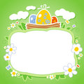 Easter card with frame for photo. Royalty Free Stock Images