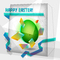 Easter card geometric Stock Photography