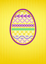 Easter card with a hole and embroidery. Stock Images