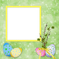 Easter card for the holiday  with egg Royalty Free Stock Image
