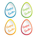Easter card with place for text. Easter eggs. Holiday background texture - vector