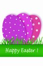 Easter card with purple tones eggs Royalty Free Stock Image