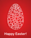 Easter card red with text vector illustration Royalty Free Stock Photo