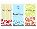 Easter card set with egg symbols ad patterns Stock Photography