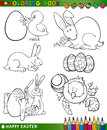 Easter cartoon themes for coloring Royalty Free Stock Photography
