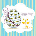 Easter cat_card Stock Photos