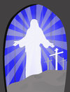 Easter with cave this is a representation of sunday jesus emerging from the tomb Royalty Free Stock Photography