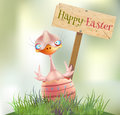 Easter chick hatched happy vector illustration Stock Image