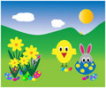 Easter Chick Surprise Stock Images