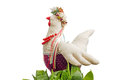 Easter chicken fabric toy Royalty Free Stock Photo