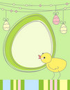 Easter chicken greeting card Royalty Free Stock Photos