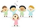 Easter Choir singing Royalty Free Stock Photo