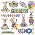 Easter Clipart 2 Royalty Free Stock Photo
