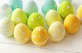 Easter colorful decorated eggs decoration Royalty Free Stock Images