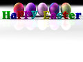 Easter colorful eggs isolated on white background d render copy space Stock Photo