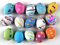 Easter colorful eggs on white background d render copy space Royalty Free Stock Photo