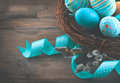 Easter Colorful Painted Eggs W...