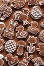 Easter cookies gingerbread on wooden background Royalty Free Stock Image