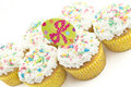 Easter Cupcakes with Sprinkles Stock Images