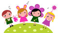 Easter cute happy party kids, spring celebration Royalty Free Stock Photo