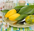 Easter cutlery Royalty Free Stock Images