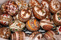 Easter decorated eggs Royalty Free Stock Photo