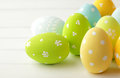 Easter decoration colorful eggs Royalty Free Stock Image