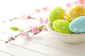 Easter decoration colorful eggs Royalty Free Stock Photo
