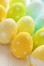 Easter decoration colorful eggs Royalty Free Stock Photos