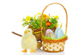 Easter decoration isolated white background Royalty Free Stock Photography